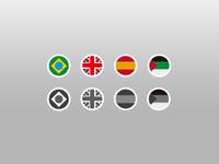 Flat Language Flags