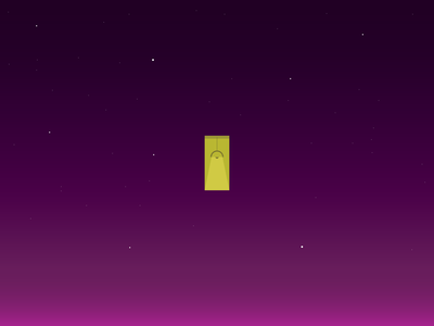 A lost window in the middle of the night sky são paulo background wallpaper yellow purple colors minimal illustration night light window