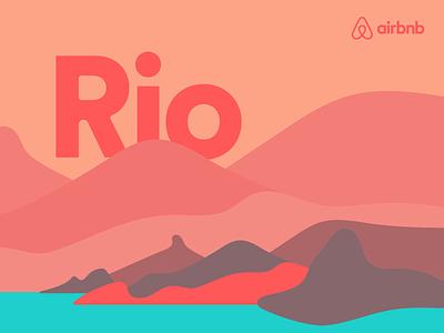 Airbnb Rio brazil illustration rio airbnb