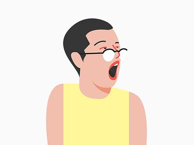 Gaping with Aline Valek avatar profile character aline valek bocejo yawning gaping illustration