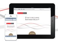 Santander Select - Responsive Site