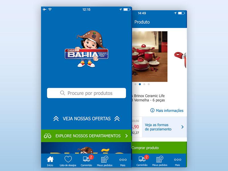 Casas Bahia android windows ios ecommerce app mobile