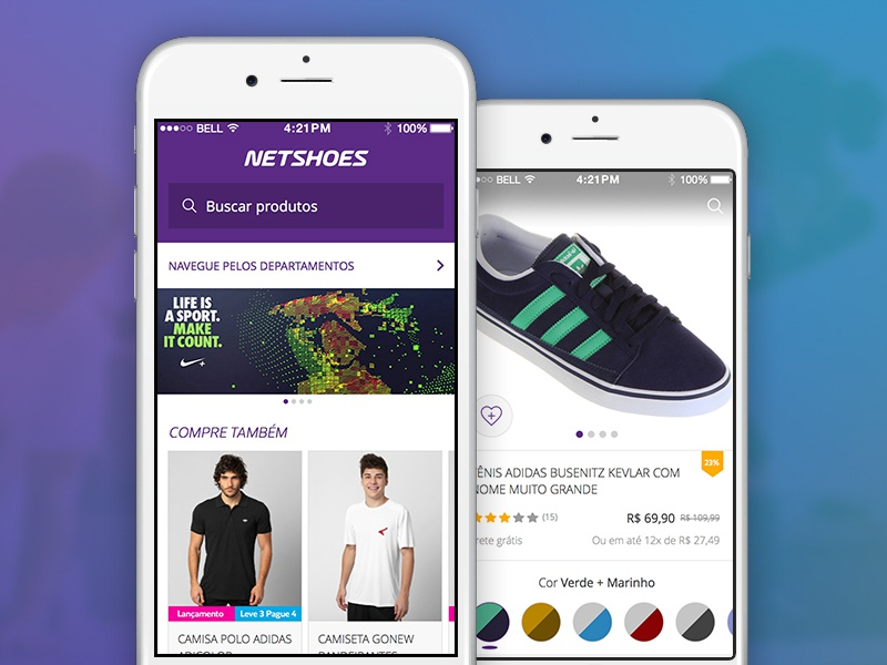 Netshoes android iphone app ecommerce netshoes