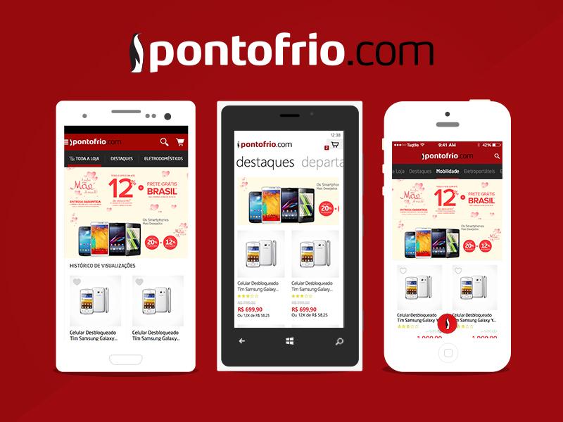 Pontofrio.com ios windowsphone android pontofrio ecommerce app