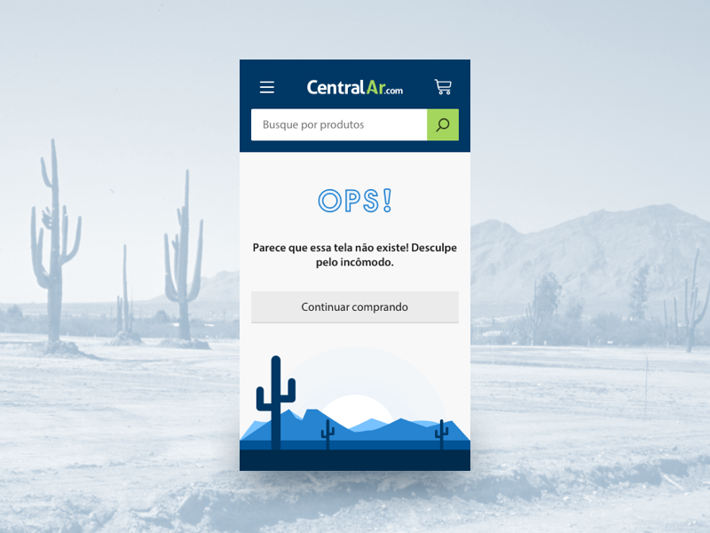 Central Ar Mobile air conditioner ui design 404 page interface ui mobile ecommerce