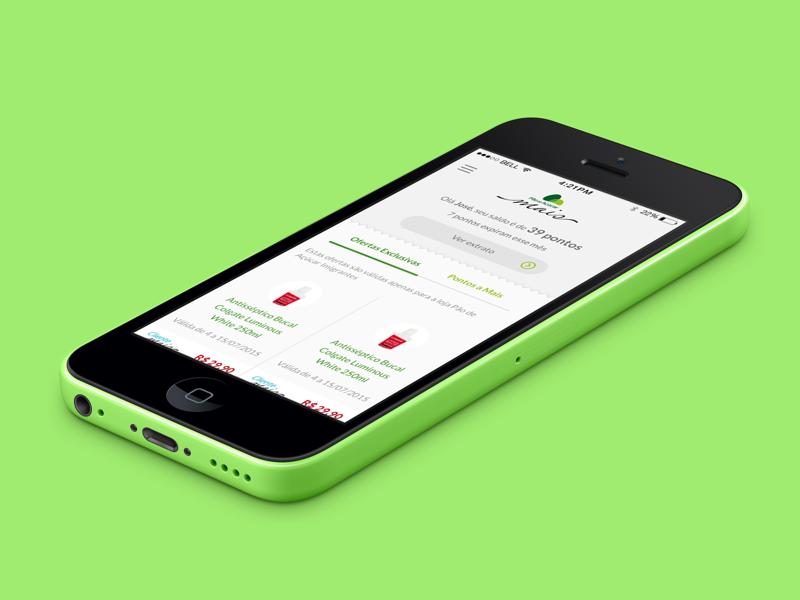 Pão de Açucar - Cliente Mais iOS app retailer reward ui mobile app ios