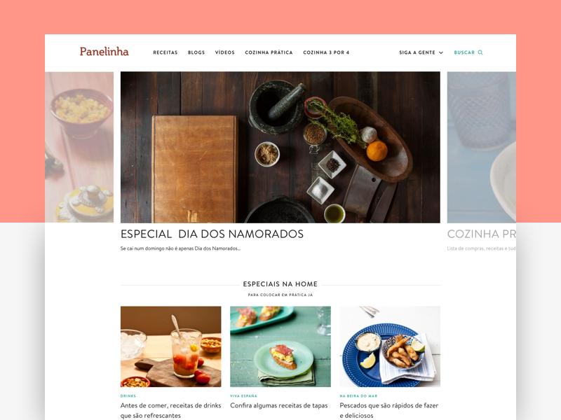 Panelinha desktop food ui recipes