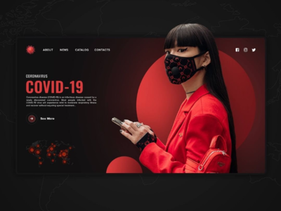 Covid-19 landing page design