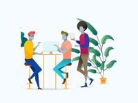 Green Office Dream Illustration