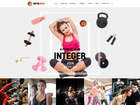 Fitness Gym PSD Template