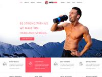 Integer Yoga Gym Website Psd