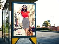 Outdoor Bus Stop Billboard Mockup Free For Advertisement
