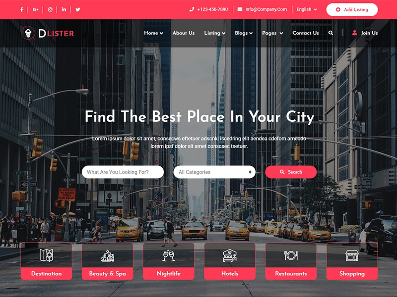 Directory & Listing HTML Template bootstrap 4 design website webdesign ui ux directory directory listing html template website template
