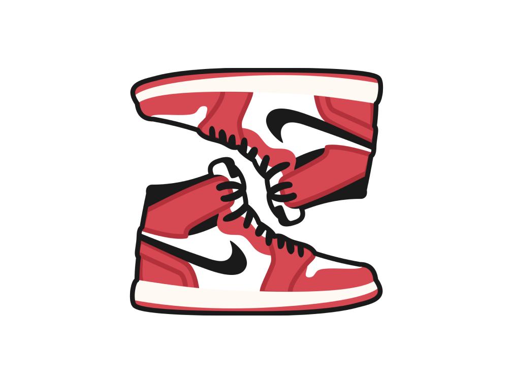 wholesale dealer 59ac9 71c9b NIKE Air Jordan 1 love vector app illustrator illustration scetch figma  marvel flat red sneakers sneakerhead