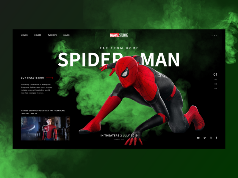 Spider—man: far from home by Gregory Kovalev on Dribbble