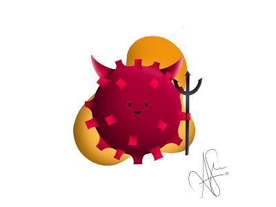 Corona Virus evil procreate ipad illustration pandemic virus covid-19 coronavirus corona
