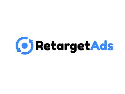 RetargetAds black blue logo symbol logo mark logodesign icon design branding illustrator arinjay design illustration symbol icon logo aim target retargeting ads