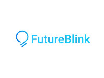 Future Blink illustration logo icon icon design logo design logo symbol logotype symbol logo logodesign icon design icon gradient blue shine light glow futurebulb future blink bulb logo bulb