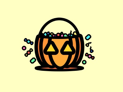 Trick Or Treat toffee pumpkins illustration illustrator halloween design candy bar candy dribble awesome arinjay