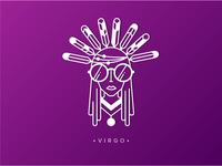 Virgo - #6 quirky gypsy zodiac illustration