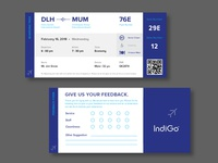 Boarding Pass Redesign concept.