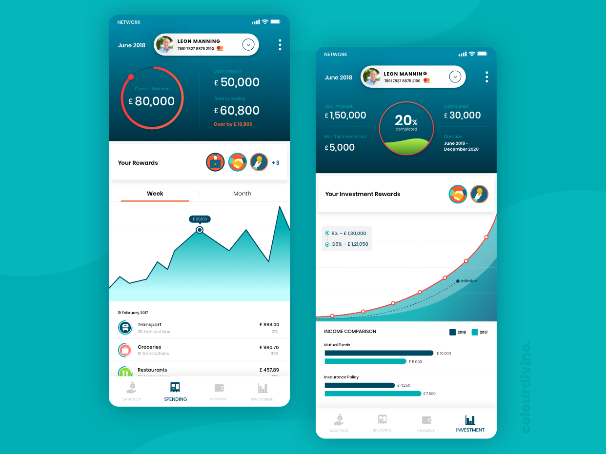 Finance App Screens userinterface screens finance app mobile ui app design uiuxdesign design ui