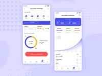 Finance app screens