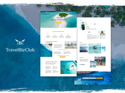 Landibg Page for TBC cruise freedom blue landing page landing dribbbble design