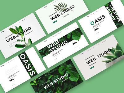 Header for Web-Studio header green webstudio figmadesign figma dribbbble shot design