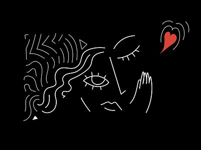 Love and compassion linework compassion love illustration