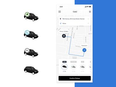 CABZ: London taxi app cab design artdirection vector taxi app app digital illustration drawing iconography icon set branding illustrator illustration