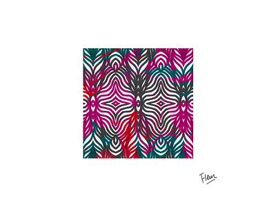 Vibrating leaves pattern design pattern colorful pendrawing illustrator vector linework illustration