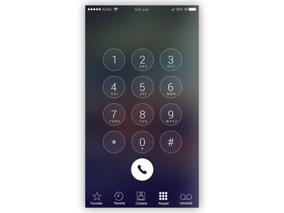 Dialer designs, themes, templates and downloadable graphic