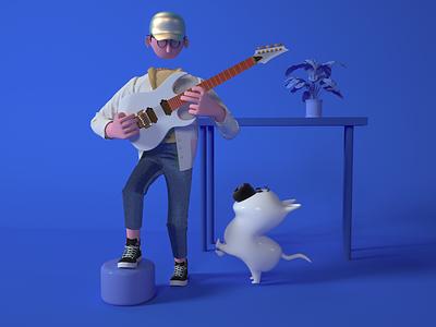 music ui c4d  design