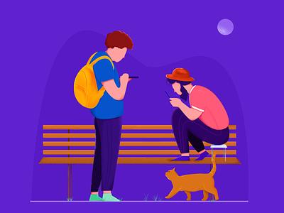Mobile world illustration