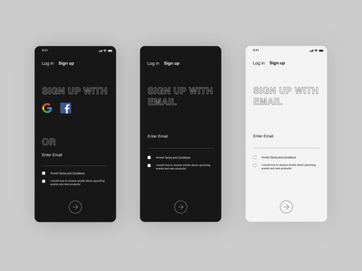 Daily UI |  Sign up daily 100 challenge signup app daily ui