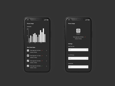 Daily UI | Settings chart screentime phone usage digital wellbeing settings ui daily 100 challenge daily ui