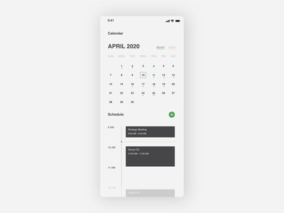 Daily UI | Calendar calendar design calendar ui daily 100 challenge daily ui
