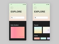 Daily UI | Search explore search gradient ui daily 100 challenge daily ui