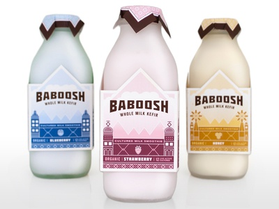 Baboosh kefir packaging