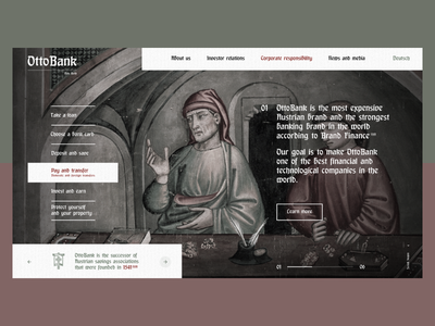 OttoBank gothic history dribbble shot middle ages finance bank
