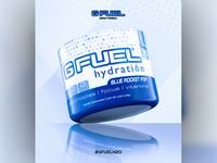 Advertisement for GFuel's Blue Rocket Pop flavour