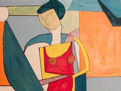 Frauenbild Kubistisch
