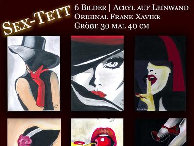 Sex Tett - Geheimnisvolle Frauenbilder acrylic paint eyes lips face