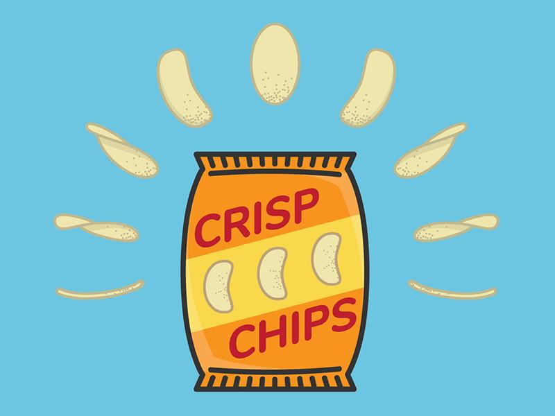 Crisp Chips icon simpsons eat snacks food chips illustration