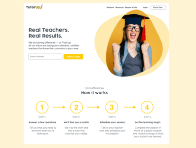 TutorUp - Homepage redesign
