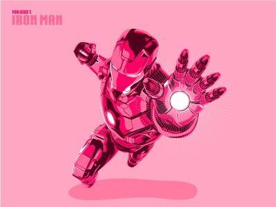 Iron Pink stark tony marvel pink man iron cartoon