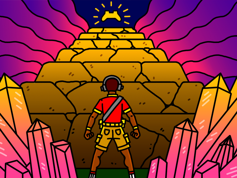 The Seven Hardest to Master Games of All Time freelancer director art design drawing joshlees illustration