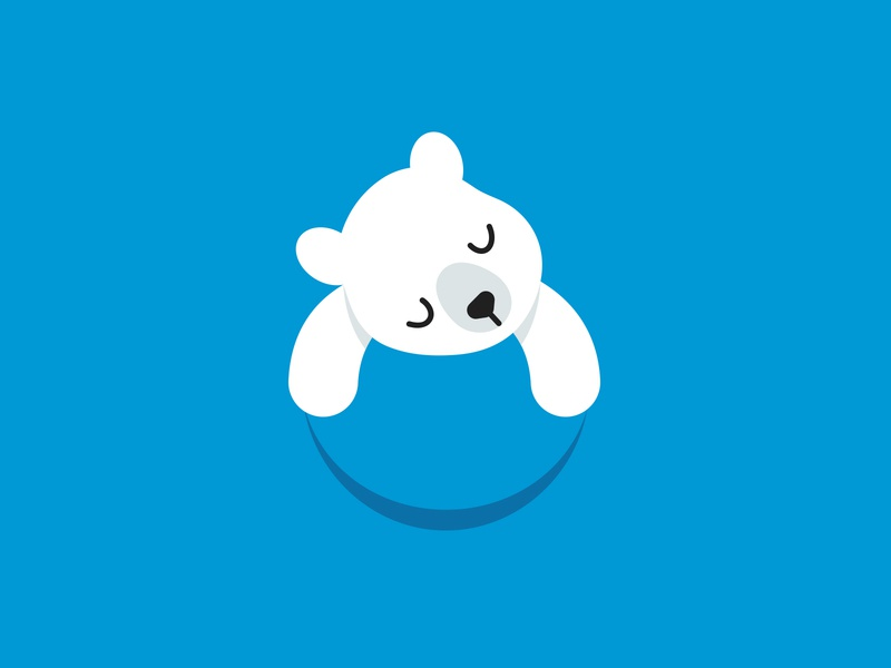 Our Planet Logo flat illustration bear logo character animal logo design mascot polar bear cute animal logodesign logo design logotype logo
