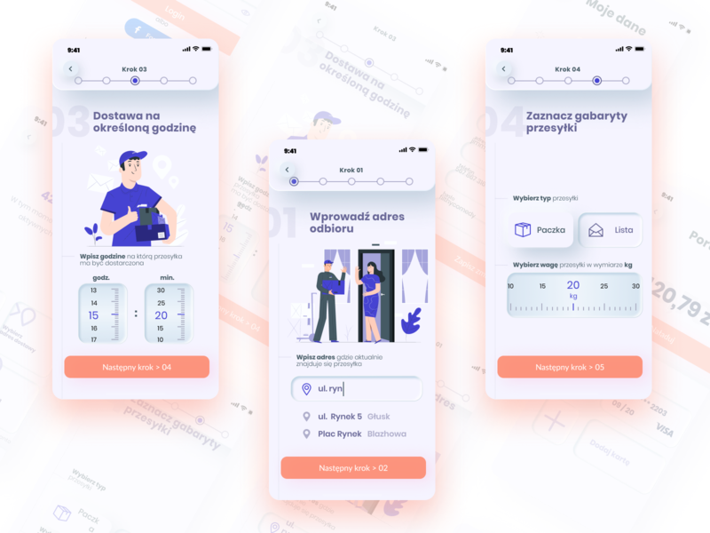 Locall'y Design of delivery mobile app neumorphic neumorphism design app webdesign product design ux stories 2020 delivery app mobile ui ui mobile app design design mobile app